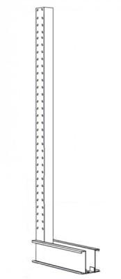 Ständer mit Fuss Typ CL, HxT 2455x1000 mm TK 1600 kg - für einseitiges Kragarmregal