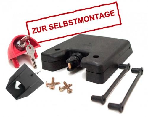 Automatik-Kippschloss für Vierrad-Container inkl. 2 Schlüssel - lose geliefert