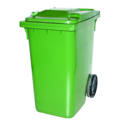 Kunststoffbehälter 360 Liter mit Deckel - Grün | sstag.ch