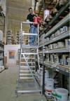 Stabilo® Professional Podestleiter fahrbar - einseitig begehbar - Alu - Arbeitshöhe bis 2.70 m - 1 x 3 Stufen