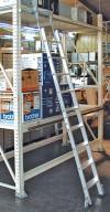 Stabilo® Professional Stufen-Regalleiter Rundrohr-Schienenanlage - Arbeitshöhe 2.70 m - 1 x 6 Stufen