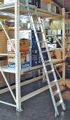 STABILO Stufen-RegalLeiter Rundrohr-Schienenanlage 1x6 Stufen